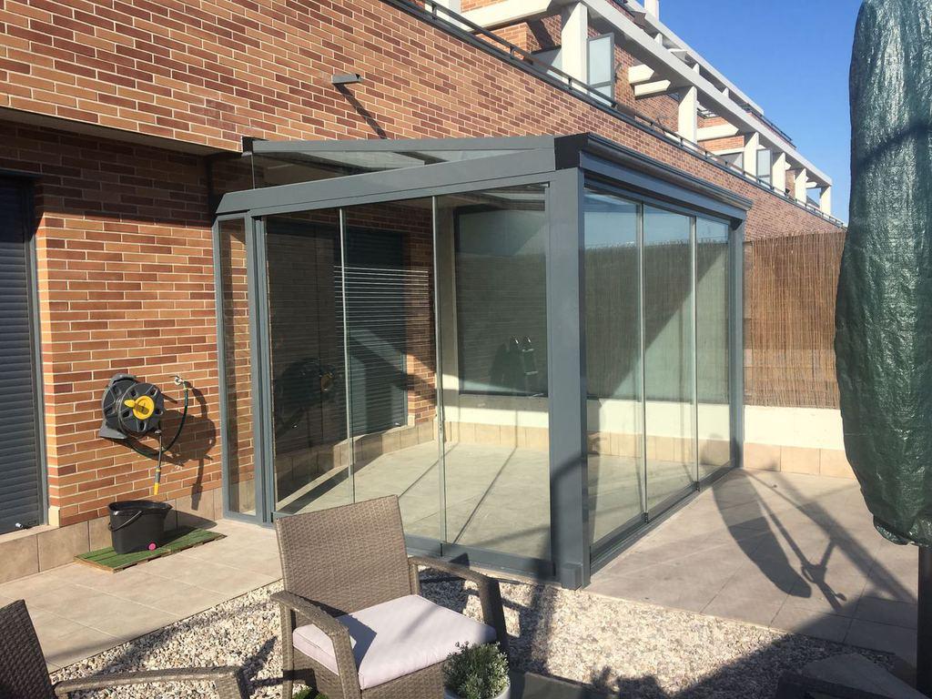 Cerramiento para terraza con cortina de cristal precios for Cortinas de cristal para terrazas